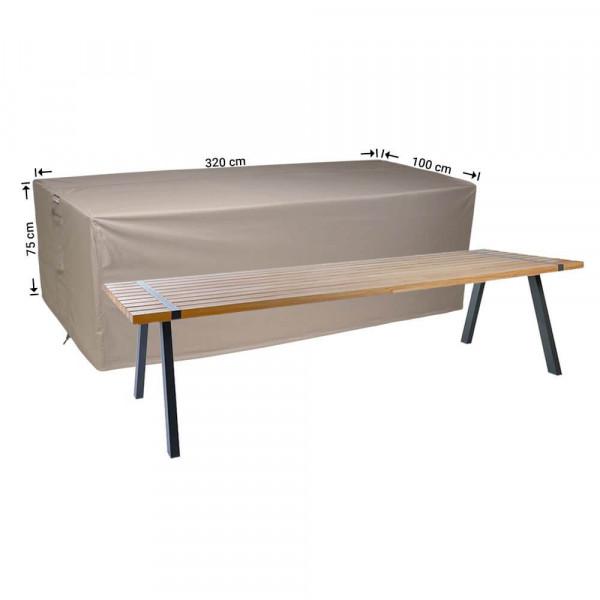 Hoes voor overtuintafel 320 x 100 H: 75 cm
