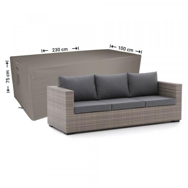 Afdekhoes voor loungebank 230 x 100 H: 75 cm