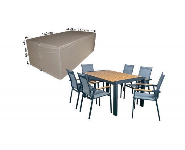 Hoes voor tuintafel + stoelen 180 x 155 H: 90 cm