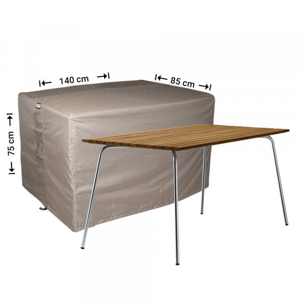 Hoes voor buiten tafel 140 x 85 H: 75 cm