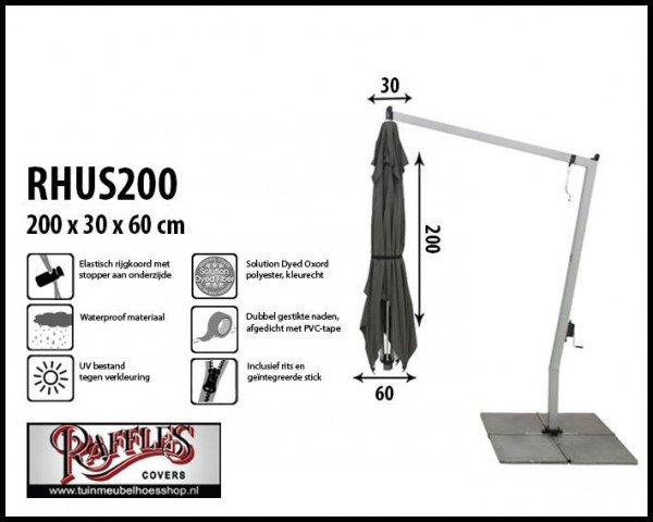 Hoes voor een hangparasol H: 200 cm