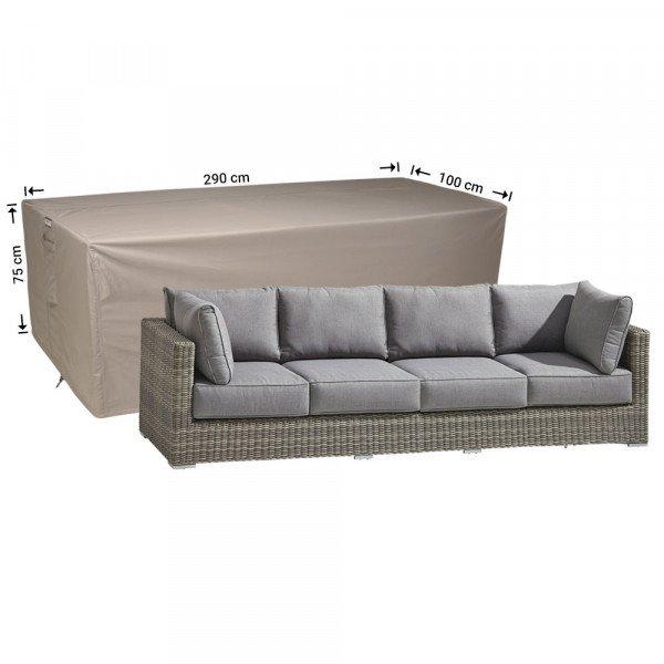 Hoes 3-zits loungebank 290 x 100 H: 75 cm