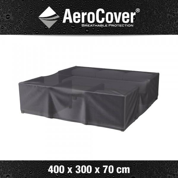 Hoes vierkante loungeset 400 x 300 H: 70 cm