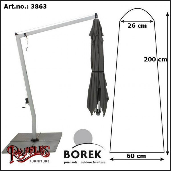 Hoes voor hangende parasol H: 200 cm