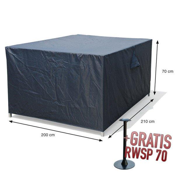 Hoes loungeset 210 x 200 H: 70 cm