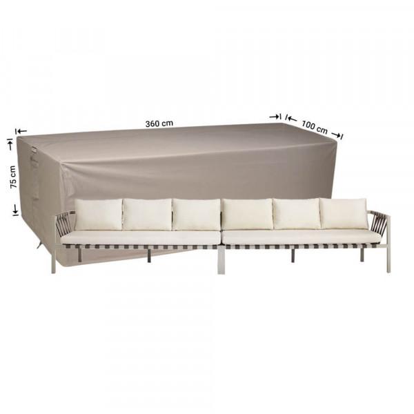 Loungebank beschermhoes 360 x 100 H: 75 cm