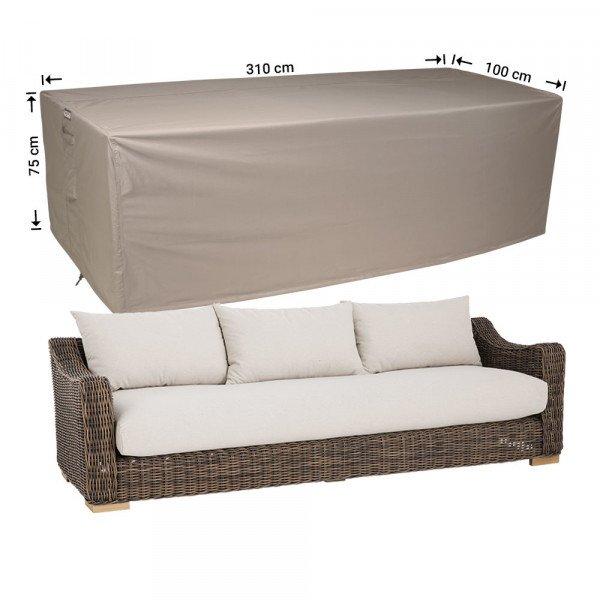 Hoes voor loungebank 310 x 100 H: 75 cm