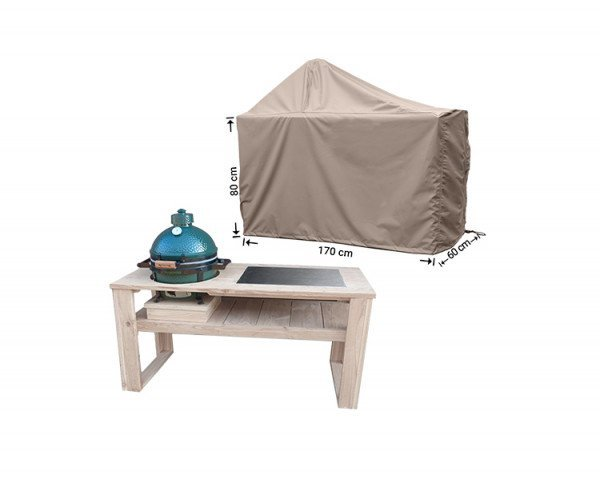 Hoes voor Green Egg BBQ 170 x 60 H: 80/140 cm