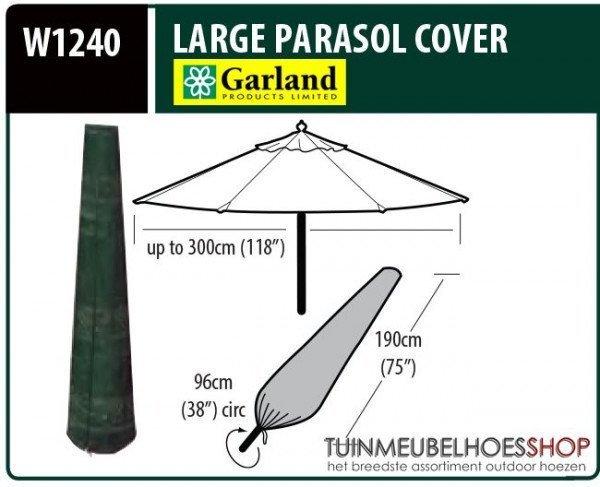 Hoes voor staande parasol H: 190 cm