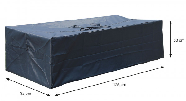 Tas voor tuinkussens 125 x 50 H: 32 cm