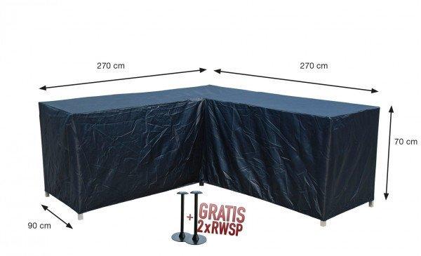 Hoes hoeklounge 270 x 270 H: 70 cm