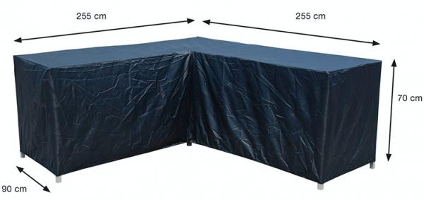 Loungehoekbank beschermhoes 255 x 255 H: 70 cm