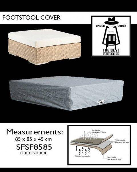 Hoes voor hocker 85 x 85 H: 45 cm
