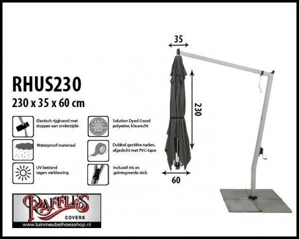 Hoes voor een hangparasol H: 230 cm