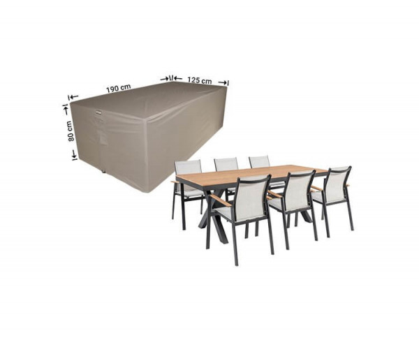 Hoes voor tuinmeubelset 190 x 140 H: 85 cm