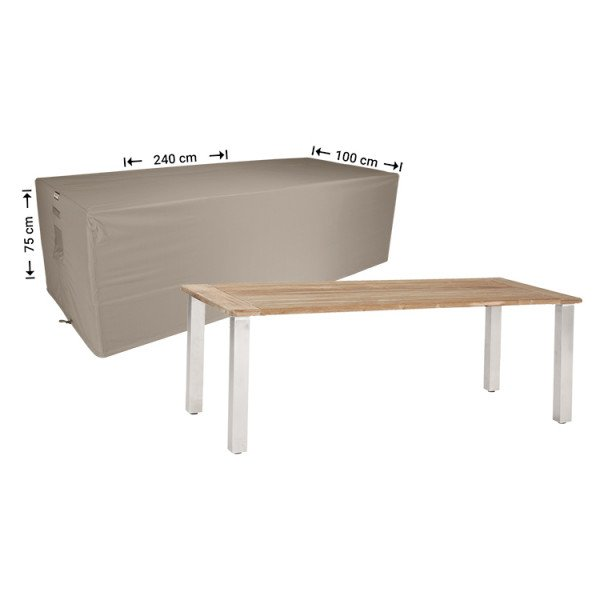Tuintafel afdekhoes 240 x 100 H: 75 cm