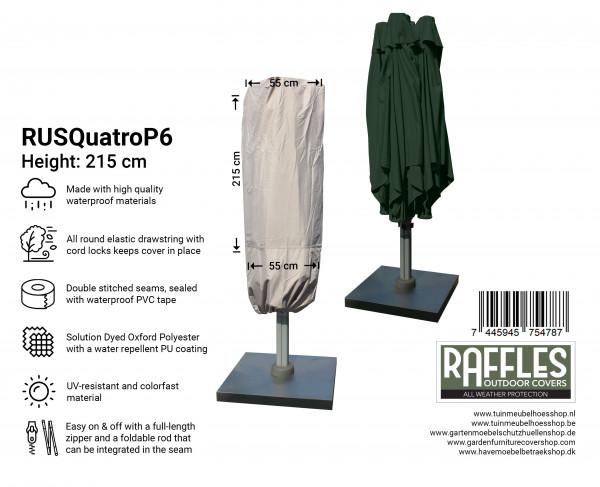 Hoes voor P6 horecaparasol met 4 doeken H: 215 cm