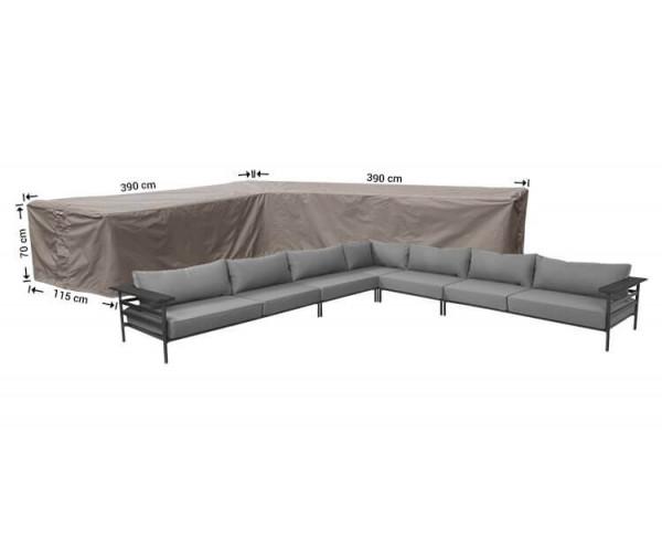 Loungesethoes L-vorm 390 x 390 x 115 H: 70 cm