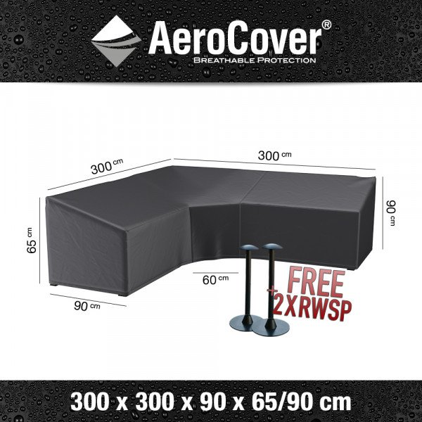 Hoes voor hoge hoekbank 300 x 300 H: 90 / 65 cm