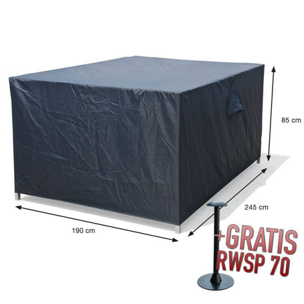 Hoes tuinset 245 x 190 H: 85 cm