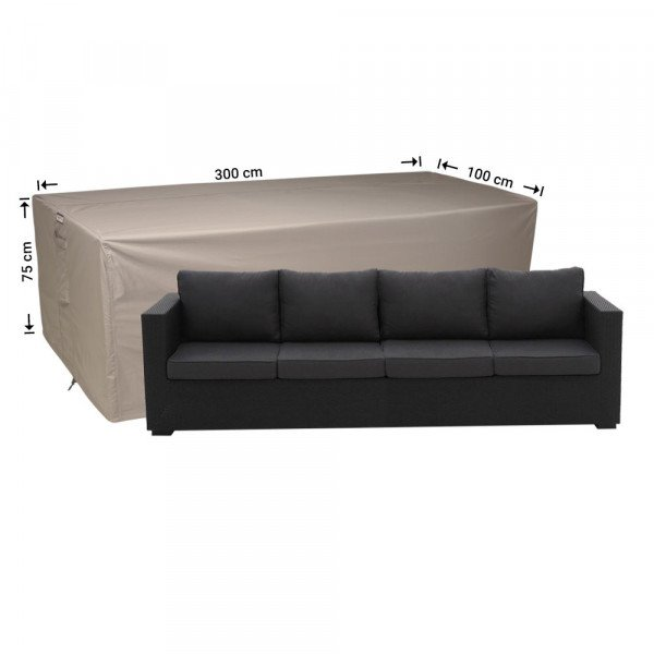 Hoes voor loungebank 300 x 100 H: 75 cm