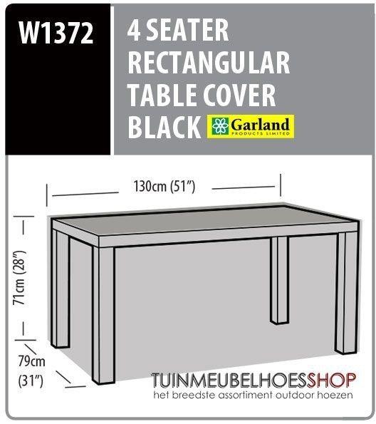 Beschermhoes tuintafel 130 x 79 H: 71 cm