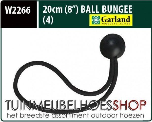 Elastische spanners, Ball Bungees, lengte 20 cm, 4 stuks