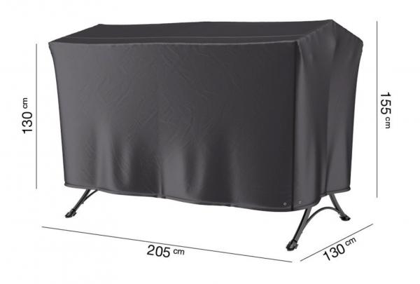 Hoes voor een schommelbank 205 x 130 H: 155/130 cm