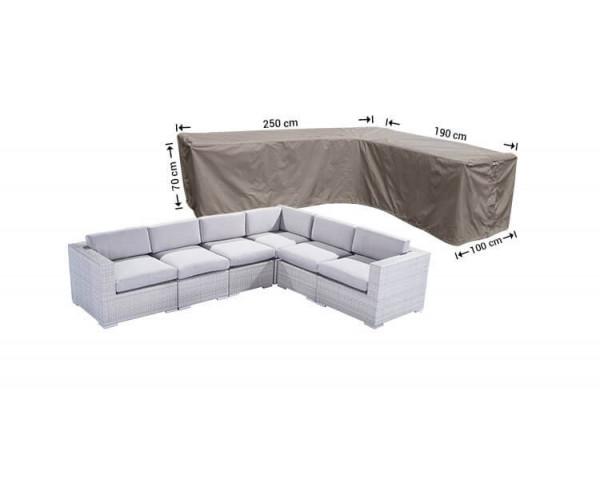 Hoes voor hoekbank 250 x 190 x 100 H: 70 cm