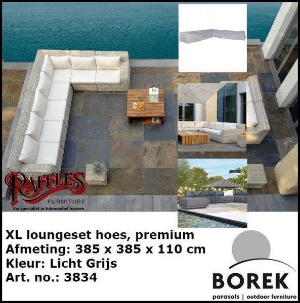 Hoes voor loungeset 385 x 385 x 110 H: 65 cm