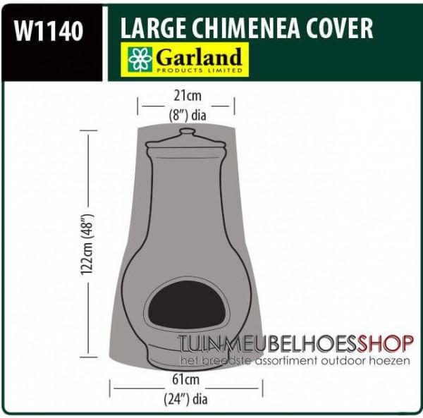 Beschermhoes terrasverwarmer Ø: 61/21 cm & H: 122 cm