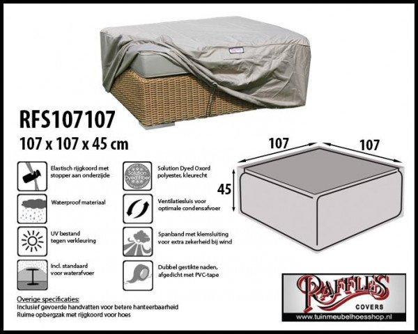 Loungetafel hoes 107 x 107 H: 45 cm