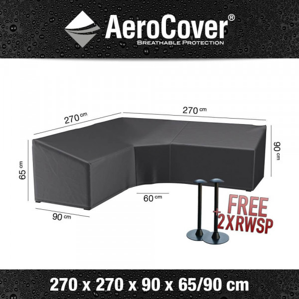 Hoes voor hoge loungesofa 270 x 270 H: 90 / 65 cm