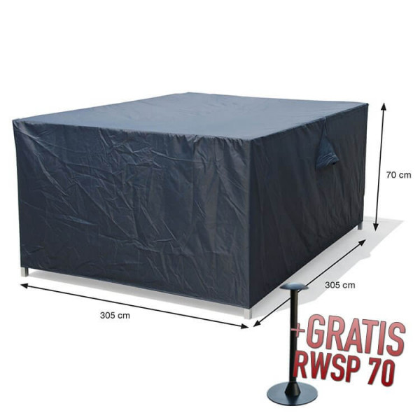 Hoes voor loungesets 305 x 305 H: 70 cm
