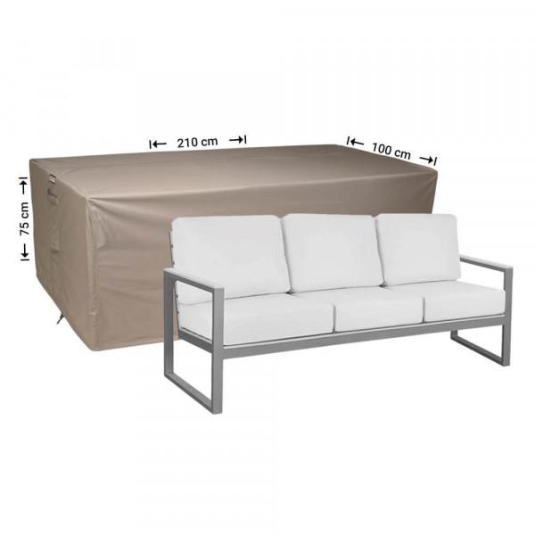 Loungebank hoes 210 x 100 H: 75 cm