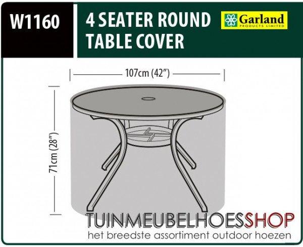 Hoes voor ronde tafel Ø: 107 cm & H: 71 cm