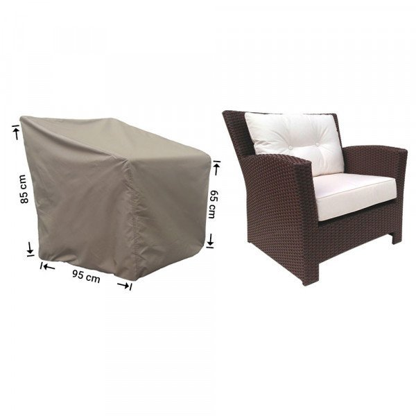 Hoes voor loungestoel 95 x 95 H: 85/65 cm