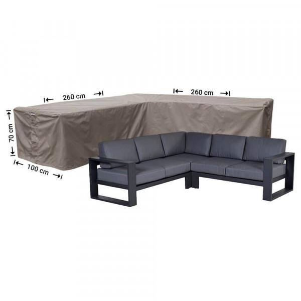 Hoes loungeset hoekbank 260 x 260 x 100 H: 70 cm