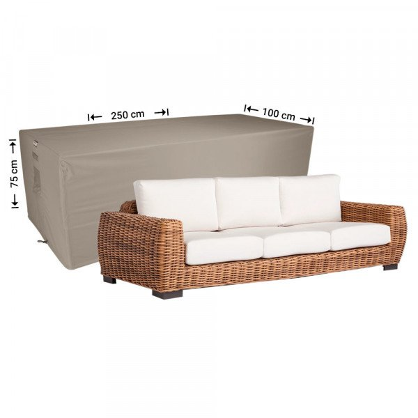 Afdekhoes loungebank 250 x 100 H: 75 cm