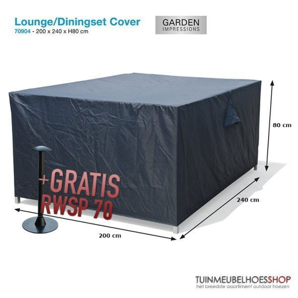 Hoes voor lounge-/tuinset 240 x 200 H: 80 cm