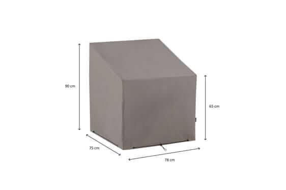 Loungestoel afdekhoes 75 x 78 H: 90/65 cm