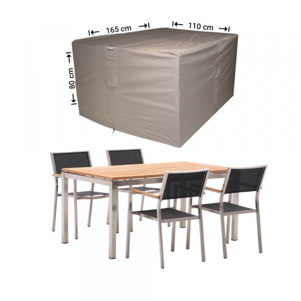 Hoes voor tuinset vierkant 165 x 110 H: 80 cm