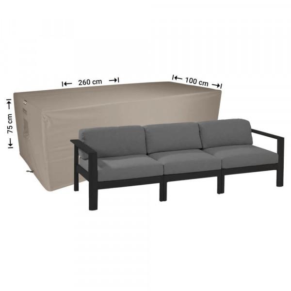 Loungebank hoes 260 x 100 H: 75 cm