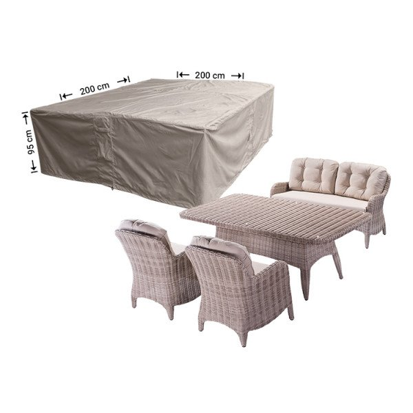Loungeset hoes 200 x 200 H: 95 cm