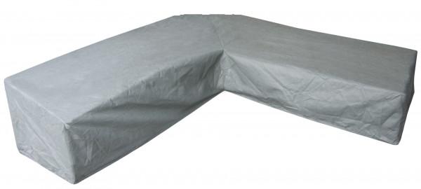 Hoes voor hoekbank met trapezehoek 300 x 300 H: 90 / 60 cm